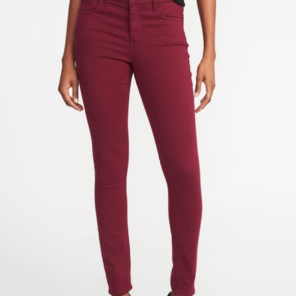 1bf1276146 Old Navy Mid Rise Rockstar Super Skinny Red Jeans.  M_5bc2caf4aaa5b8a555d42cf7